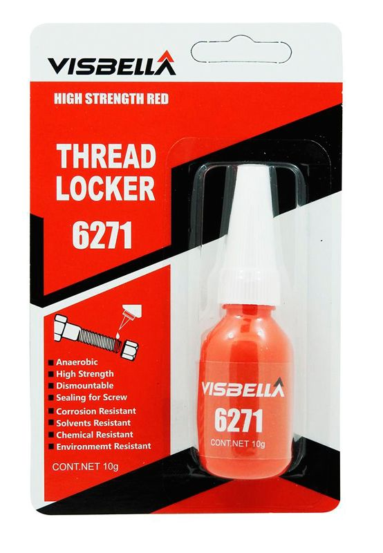 Visbella Threadlocker Nut & Bolt Locker 6217 High Strength Red