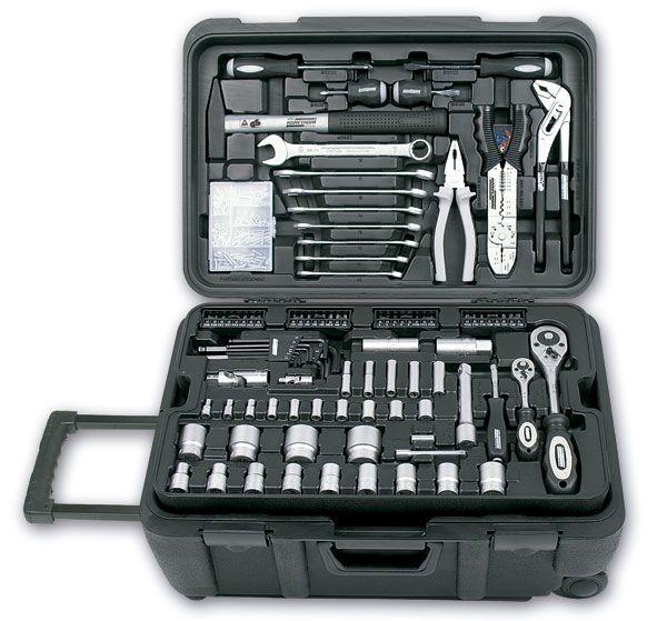 Malet n de herramientas m vil 122 piezas mannesman - Maletin herramientas con ruedas ...